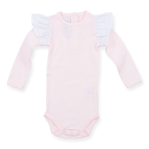 Wing Bodysuit Long Sleeve, Pink