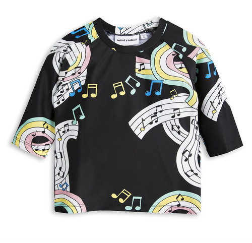 Mini Rodini Melody Swim Shirt, Black