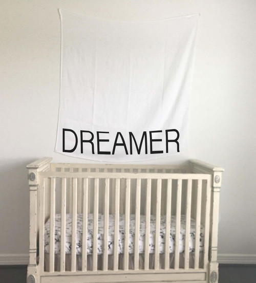 Organic Cotton Muslin Swaddle, Dreamer