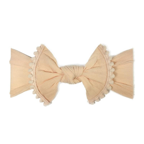 Trimmed Knot Bow, Peach