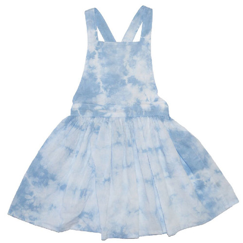 Blue Cloud Pinafore Dress