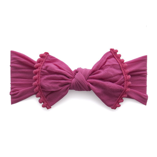 Trimmed Knot Bow, Hot Pink