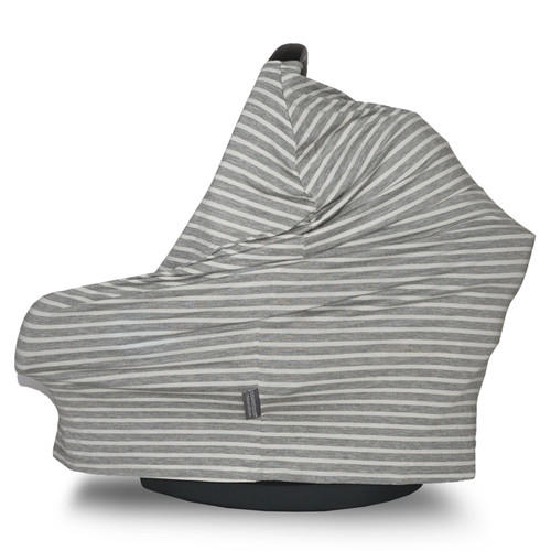 Covered Goods Multi Use Car Seat Cover, Grey & Ivory Pinstripe