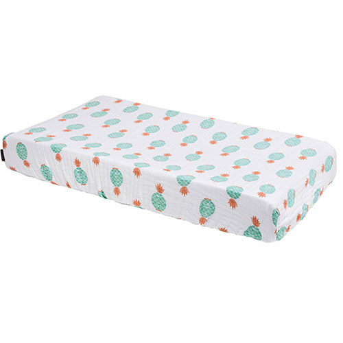 Muslin Changing Pad Cover, Oahu Pineapples