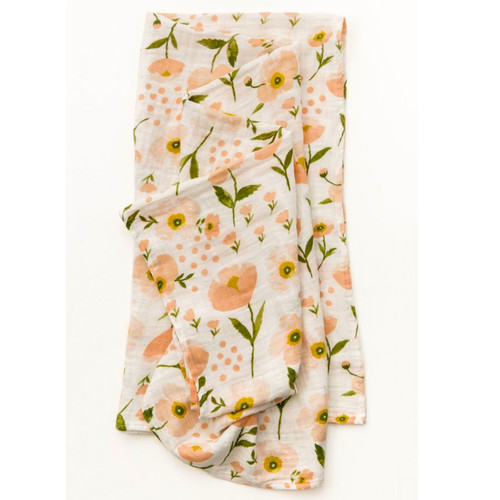 Blush Blooms Muslin Swaddle