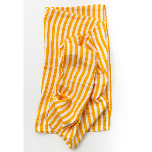 Citrus Stripe Muslin Swaddle
