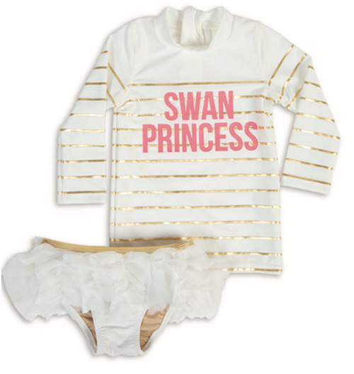 Swan Princess 2pc Rashguard Set
