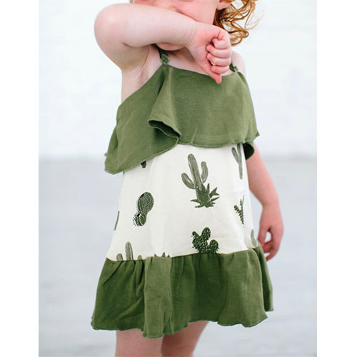Organic Summer Dress, Cactus