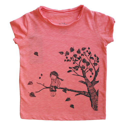 Organic Cotton Tee, Girl on Tree