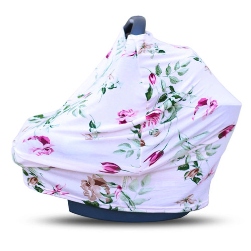 Covered Goods Multi Use Car Seat Cover, Blush Rose