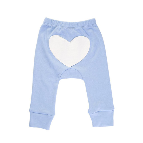 Organic Cotton Pants, Blue Heart