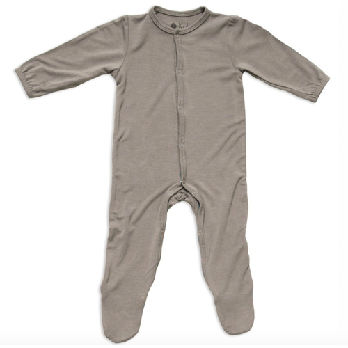 Bamboo Footed Romper, Clay
