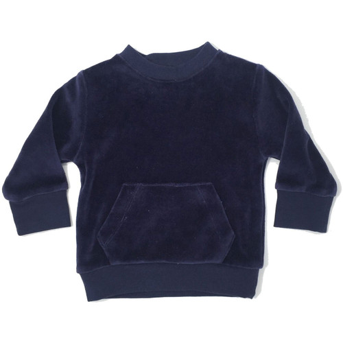 Organic Velour Sweatshirt, Navy