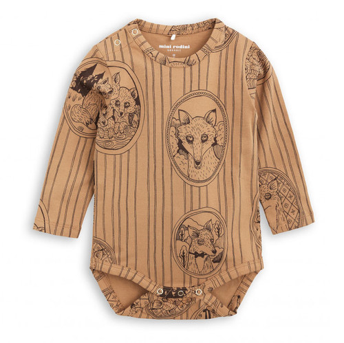 Mini Rodini Fox Family LS Body, Brown