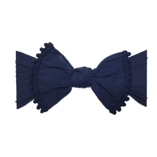 Trimmed Knot Bow, Navy