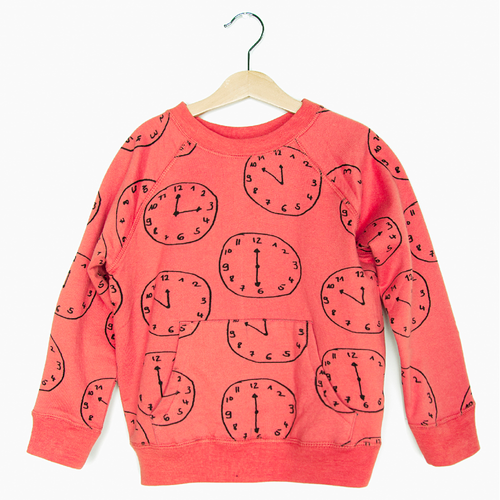 Organic Sweatshirt, Clocks