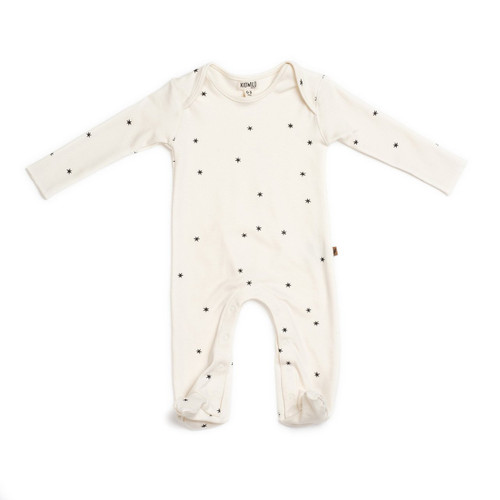 Organic Footed Romper, Star