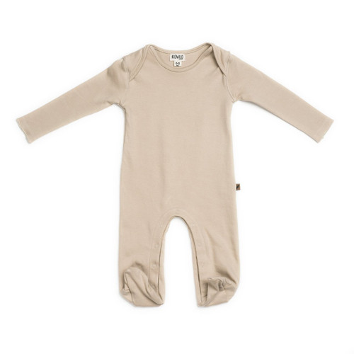 Organic Footed Romper, Dune