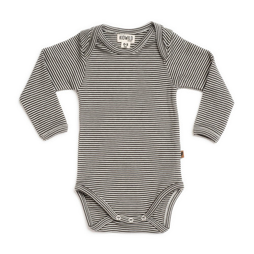 Organic Long Sleeve Bodysuit, Stripe