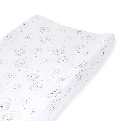 Muslin Changing Pad Cover, Lions