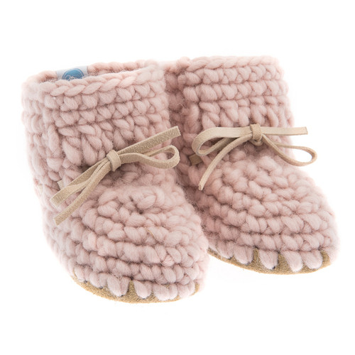 Sweater Moccasins, Pink