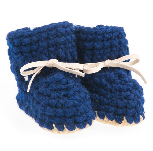 Sweater Moccasins, Navy