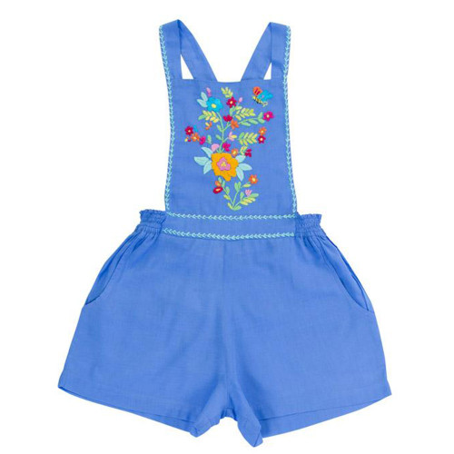 Pomme Playsuit, Periwinkle Hand Stitch