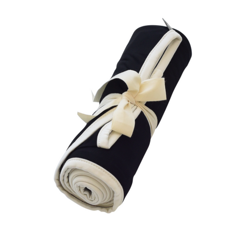 Bamboo Swaddle, Midnight/Cloud Trim