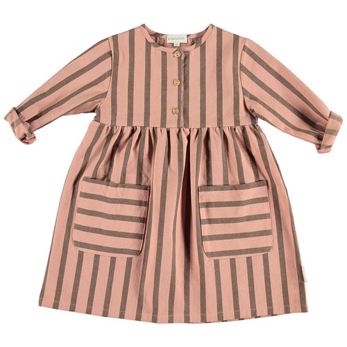 Dress, Pale Pink Stripes