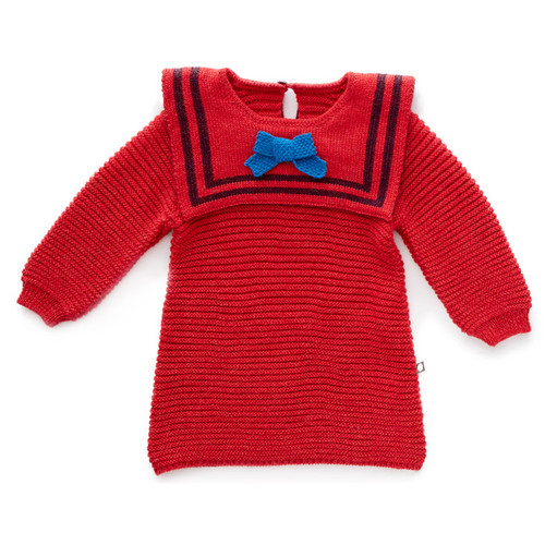 Oeuf Sailor Dress, Red