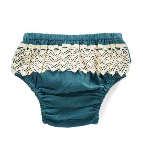 Lace Bottom Bloomer, Teal