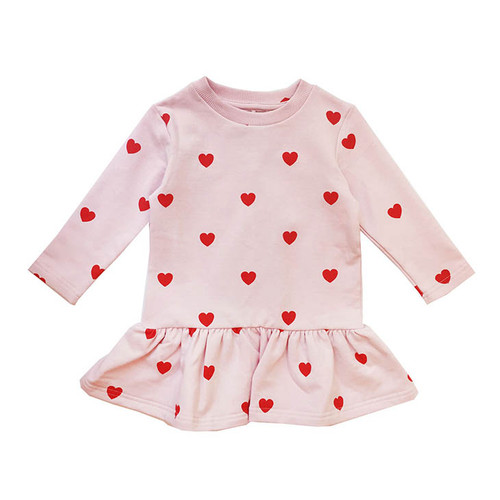 Sweater Dress, Red Hearts
