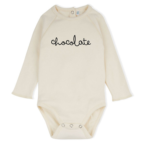 Organic Chocolate Bodysuit, Natural