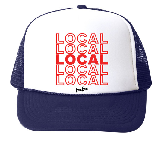 Local Mesh Trucker Hat, Navy