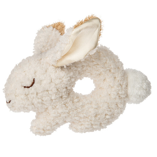 Oatmeal Bunny Ring Rattle