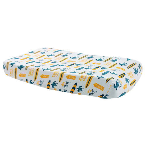 Muslin Changing Pad Cover, Surf