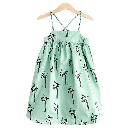Dress, Green Palmtrees