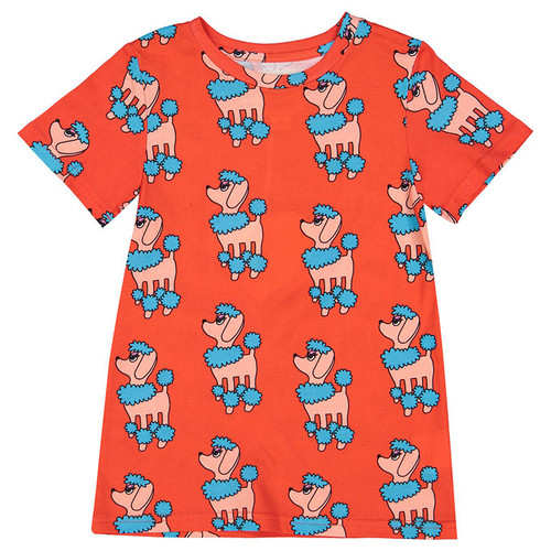 T-Shirt, Red Poodle