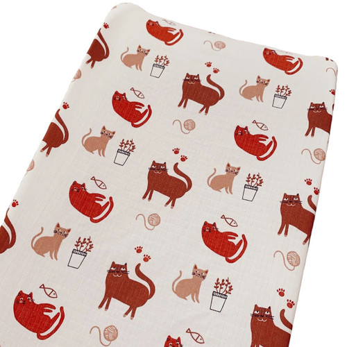 Muslin Changing Pad Cover, Cats