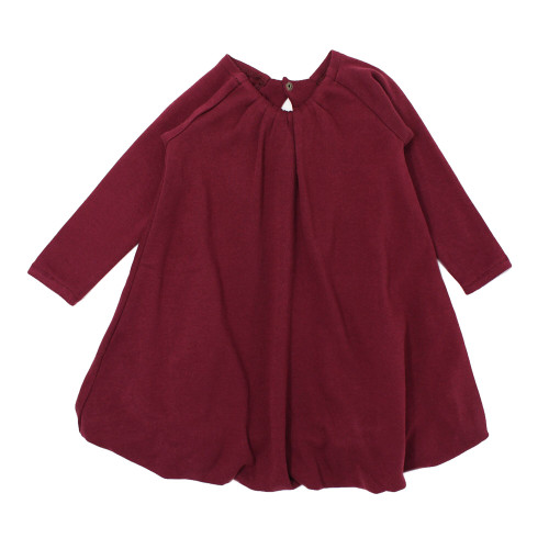 Organic Bubble Dress, Cranberry
