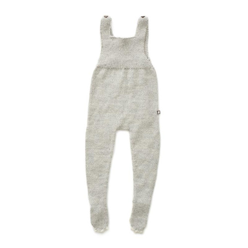 Oeuf Bunny Footed Jumpsuit, Light Grey