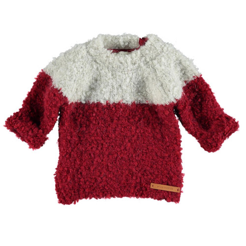 Knitted Sweater, Garnet/Ecry