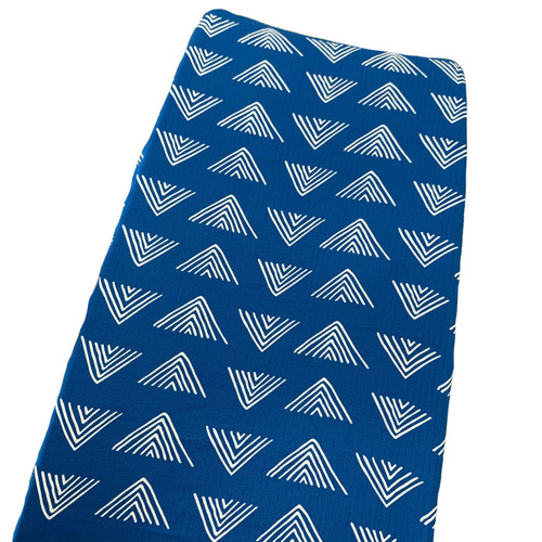Muslin Changing Pad Cover, Marine Blue Mudcloth