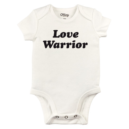 Love Warrior Bodysuit, Natural