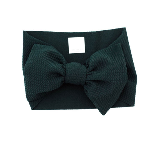 Headwrap Bow, Forest Green