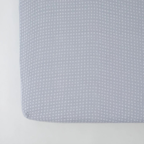 Muslin Crib Sheet, XOXO
