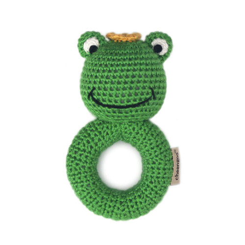 Frog Prince Crochet Ring Rattle