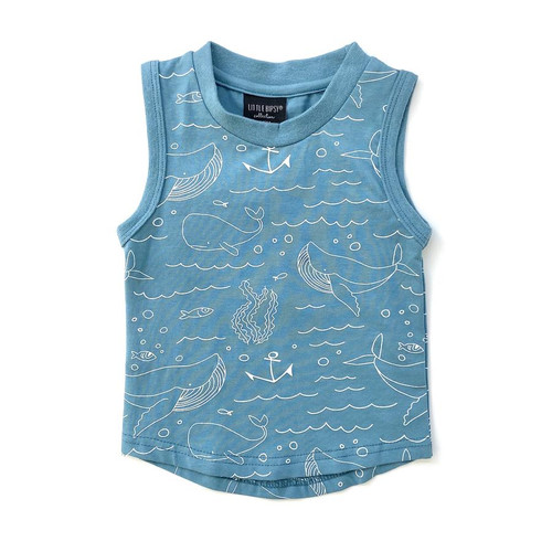 Graphic Tank, Blue Whales