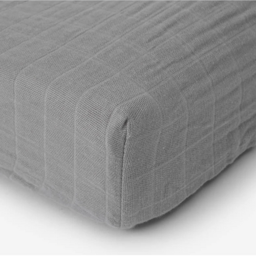 Muslin Changing Pad Cover, Nickel