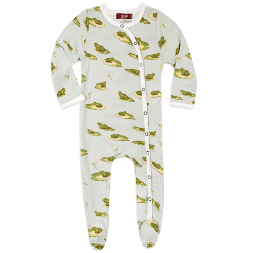 Bamboo Footed Romper, Leapfrog